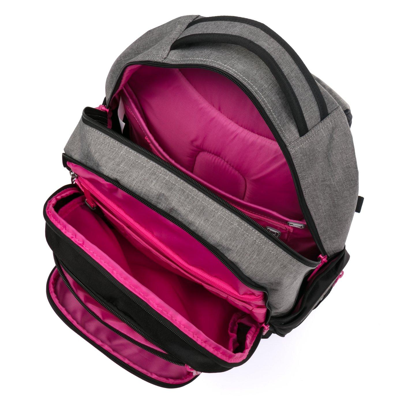 0e44a8057fe ... Studentský batoh OXY Style GREY LINE Pink Bez licence · Image. OXY